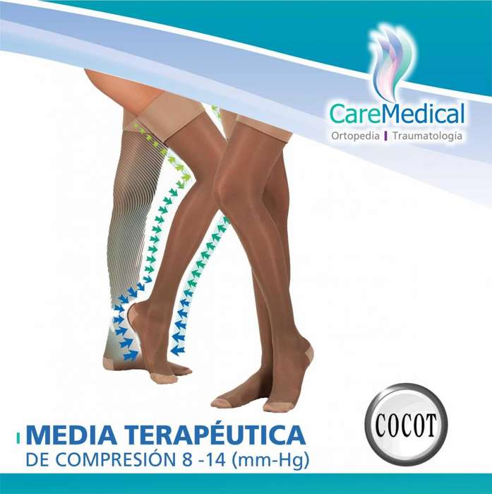 Media De Compresion Gradual Con Liga 8-14 (mm-Hg) - Cocot - 70 DENIERS - Ortopedia Care Medical