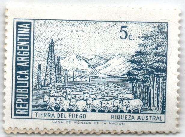 ARGENTINA. ESTAMPILLA. 5 CENTAVOS. 1971. SW 1120ADN. ESTADO 8 DE 10. VALOR 700
