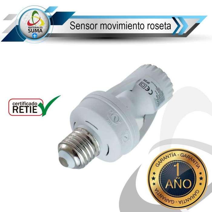 sensor de movimiento tipo roseta E27
