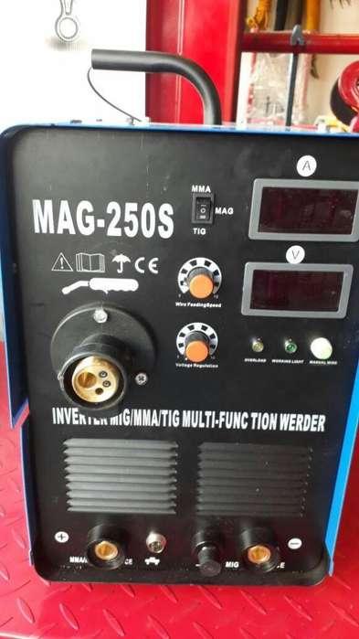 Equipo multiproceso tig mas mig mas inversor 250 amp marca ena power