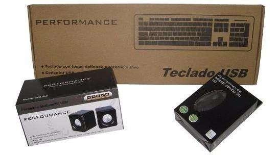 Kit Combo De Teclado, Mouse Y Parlante Performance Usb