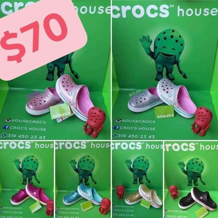 Crocs Escarchados