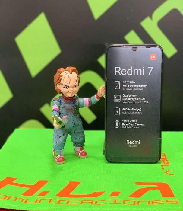 Xiaomi Redmi 7 64Gb obsequio powerband nuevos factura garantia domicilio sin costo hlacomunicaciones