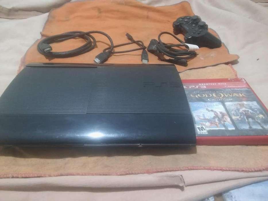 Playstation 3 300gb Super Slim 1 Jostick 1 Juego