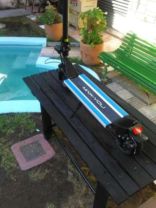 monopatin electrico scooter transporta hasta 120kg pesos 32000