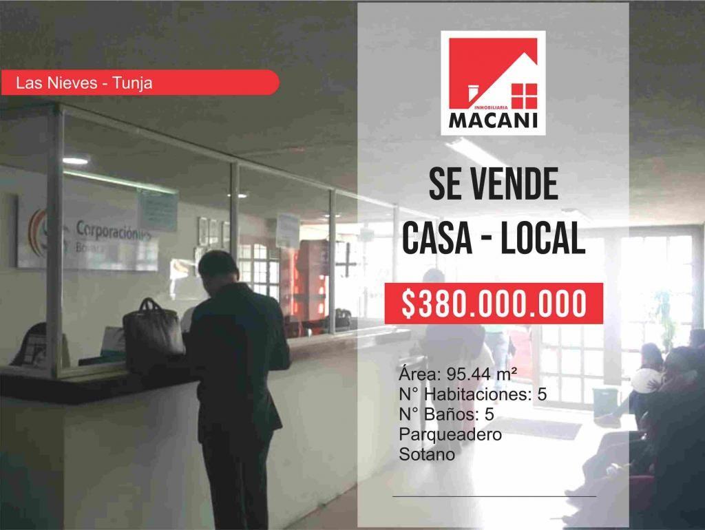 Se Vende Casa para Local Comercial Nieves - Tunja