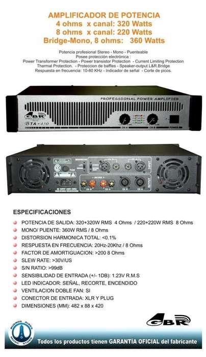 Amplificador Potencia Gbr Bta450