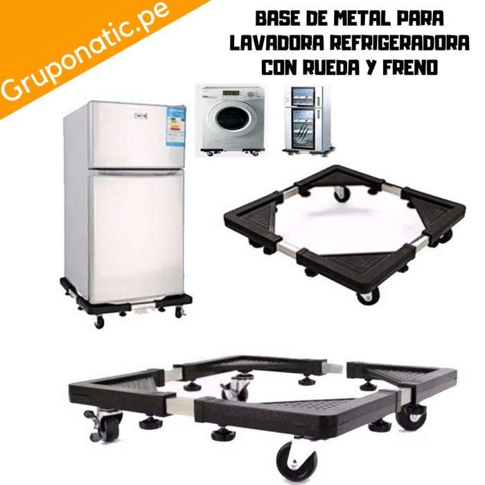 Base Metal Con Rueda Para Lavadora Gruponatic San Miguel Surquillo Independencia La Molina Whatsapp 941439370
