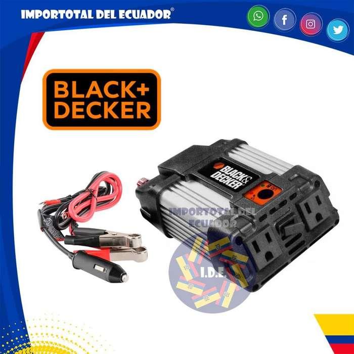 Inversor ''nuevo'' convertidor de corriente de 12 a 110 voltios / Black & Decker / 1 año garantía / Modelo PI400LA-B3