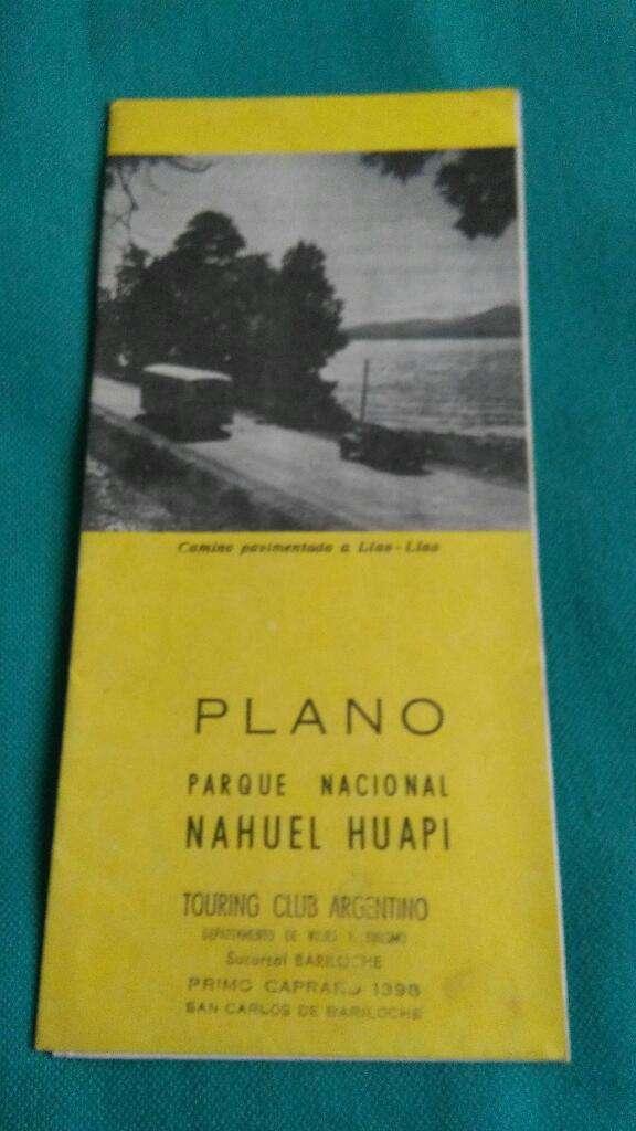 Plano Mapa Parque Nacional Nahuel Huapi