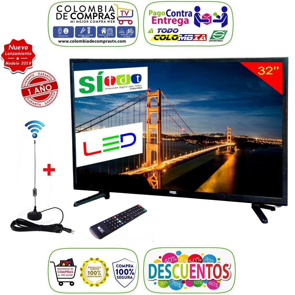 Televisor Led Full Hd 32 Pulgadas, Monitor, Gtía 1 Año, Nuevos, Originales, Garantizados