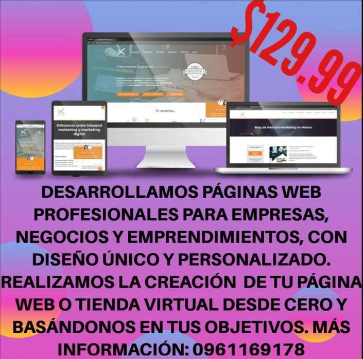 Desarrollo Pagina Web Y Tienda Online