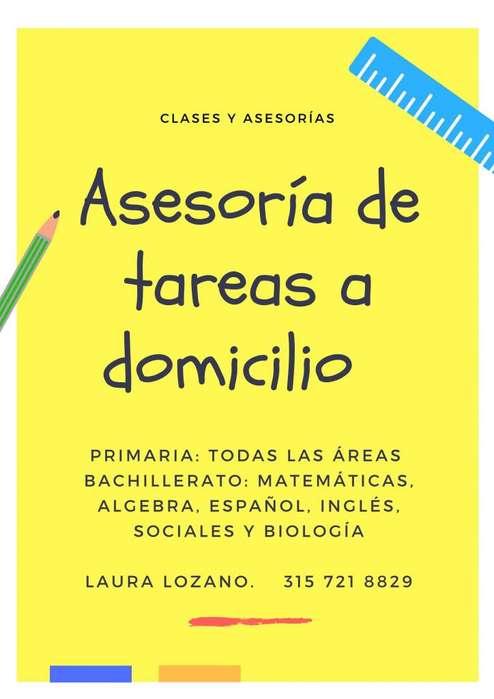 CLASES Y ASESORÍAS DE TAREAS