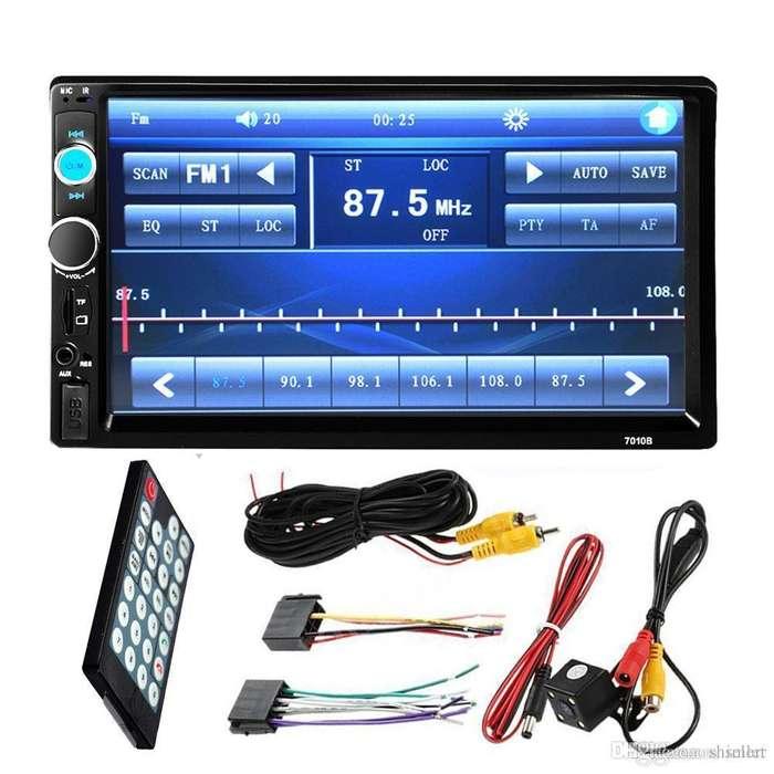 AUTO RADIO CON CAMARA DE RETROCESO, Bluetooth USB FM para TOYOTA, KIA, HYUNDAI, Y CUALQUIER MARCA DE CARRO