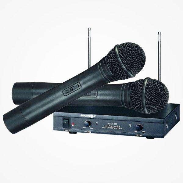 Ab Audio Microfono Doble Mano Inalambrico Vf02m