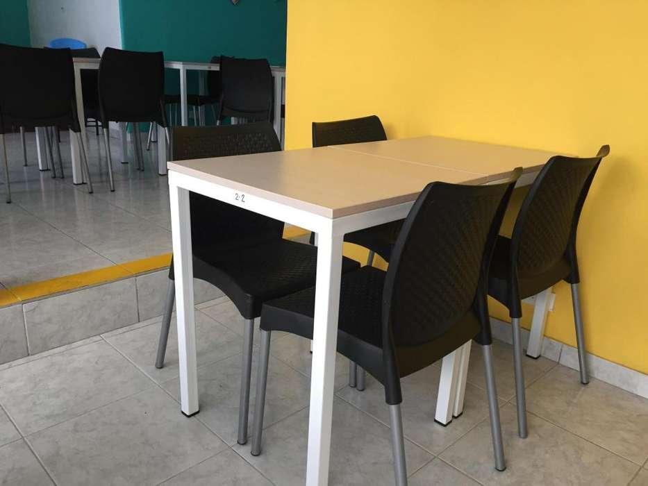 mesas y sillas RESTAURANTECAFETERÍA, INDIVIDUAL O JUEGO