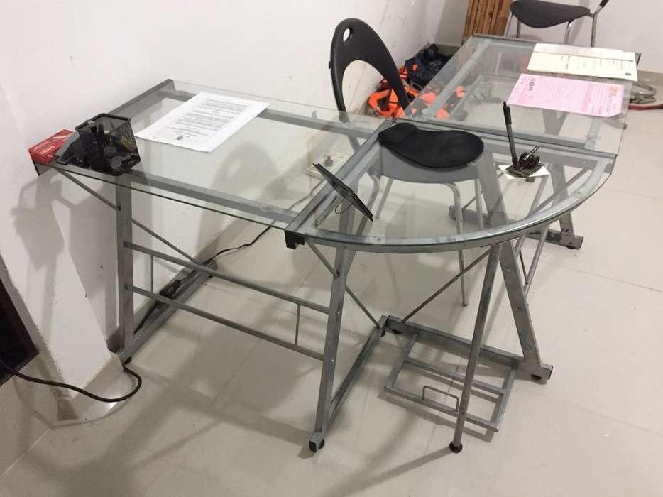 <strong>escritorio</strong> Vidrio Sillas Oficina !!!