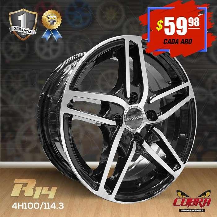 Aro Rin 14 Chevrolet Aveo Chevrolet Spark San Remo Nissan S_6