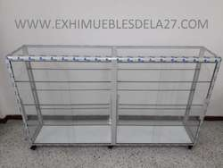 Fabrica de Vitrinas en aluminio o en solo vidrio para droguerias tiendas farmacias y