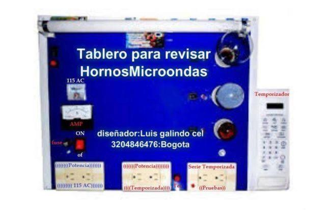 El taller de los Hornos Microondas Engativa. Fontibon