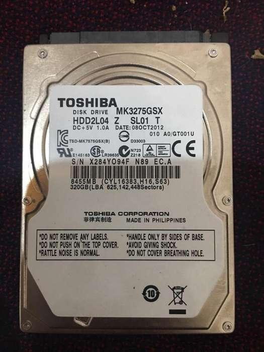 Vendo 2 Discos Duros uno SEAGATE 500 Gb y el otro TOSHIBA 320 Gb PRECIO UNICO!