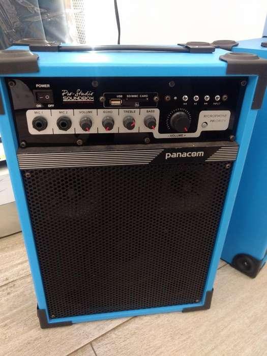 Amplificador Doble Bafle Panacom 25w