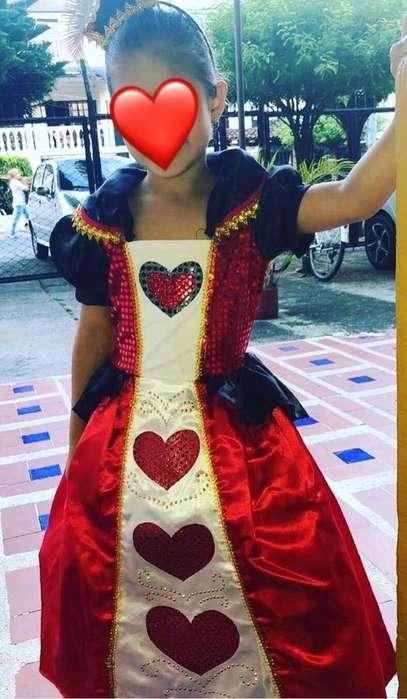 Disfraz Reina de Corazones niña.