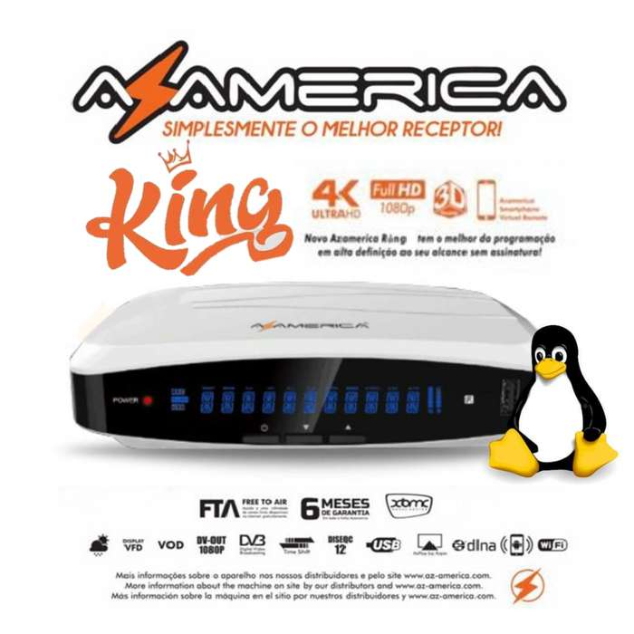 Decodificador Satelital AZ AMERICA KING Acm Hd