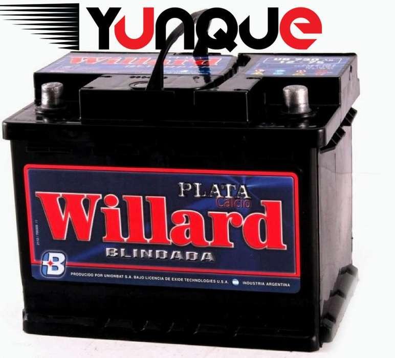 <strong>bateria</strong> WILLARD 12x65 plata calcio