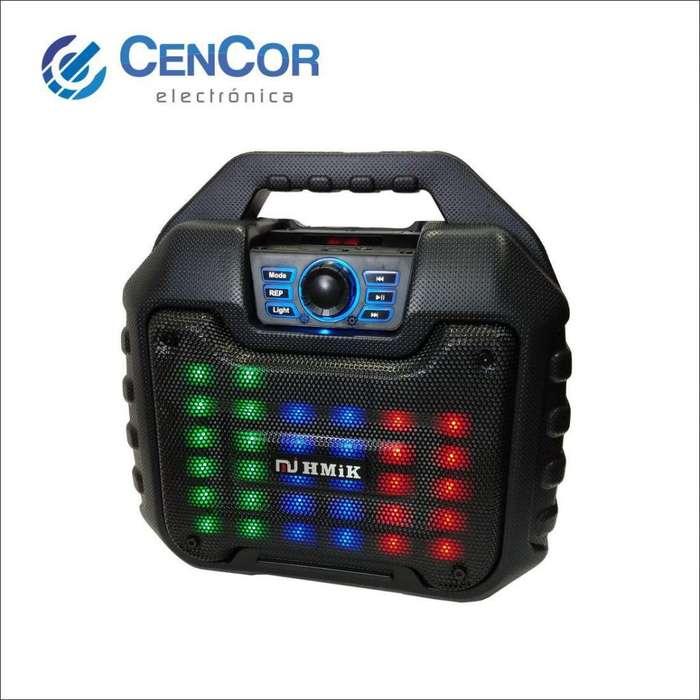Parlante Portátil Con Luces Led Mkb20! Cencor Electrónica!