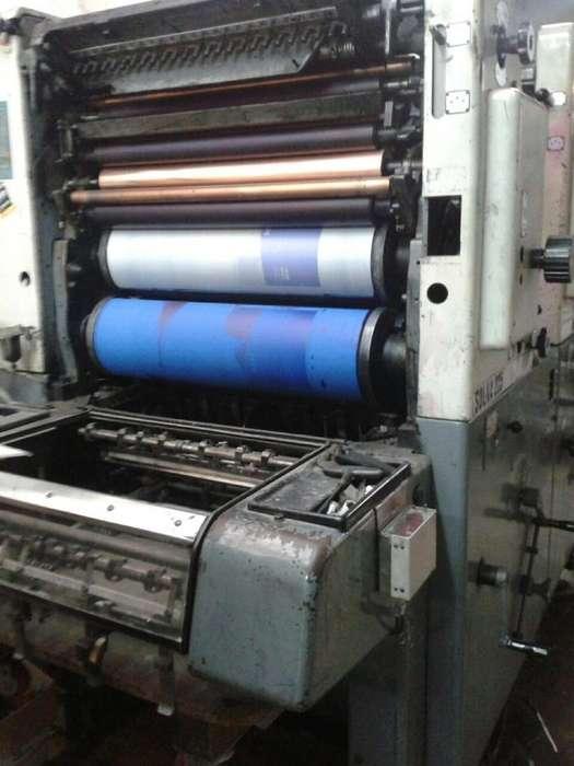 Impresora Solna 225 de 2 colores Año 1980.