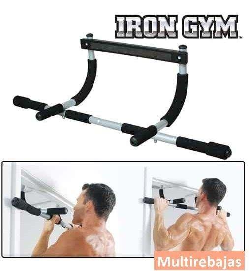 Iron Gym Barra De Entrenamiento 92cm Para Diferente Posiciones