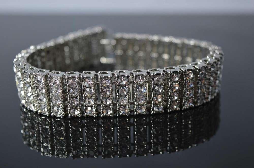Pulsera diamantes simulados