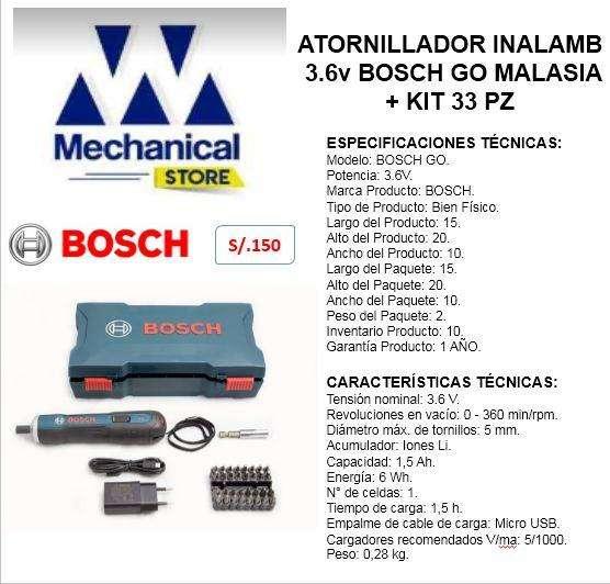 Atornillador Inalambrico Bosch