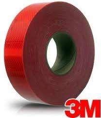 Rollo Cinta Reflectiva 3M Rojo C/Logo