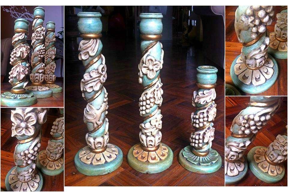 Vendo candelabros tallados