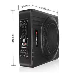 Parlante Bajo Subwoofer 10pulg Slim Amplificado 600w Kit de instalación GRATIS