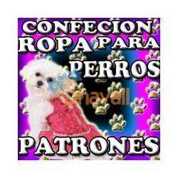 PATRONES ROPA PARA PERROS PEQUEÑOS GRANDES MODA CANINA IMPRIMIR SKU: 116