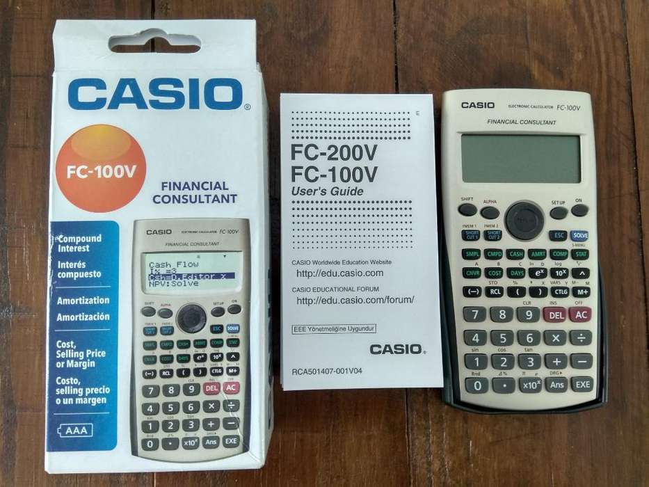 <strong>calculadora</strong> Financiera Casio Fc-100v