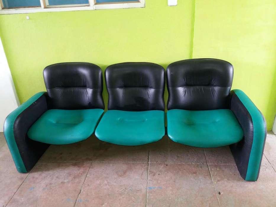 mueble sillon de espera tripersonal