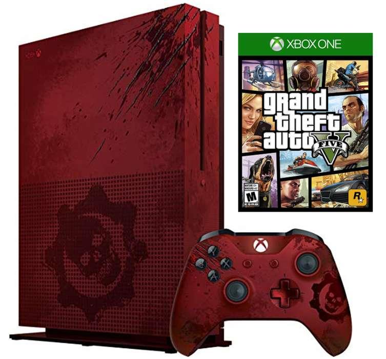 Xbox One S 2tb Edición Limitada Gears Of War 4 Gta V