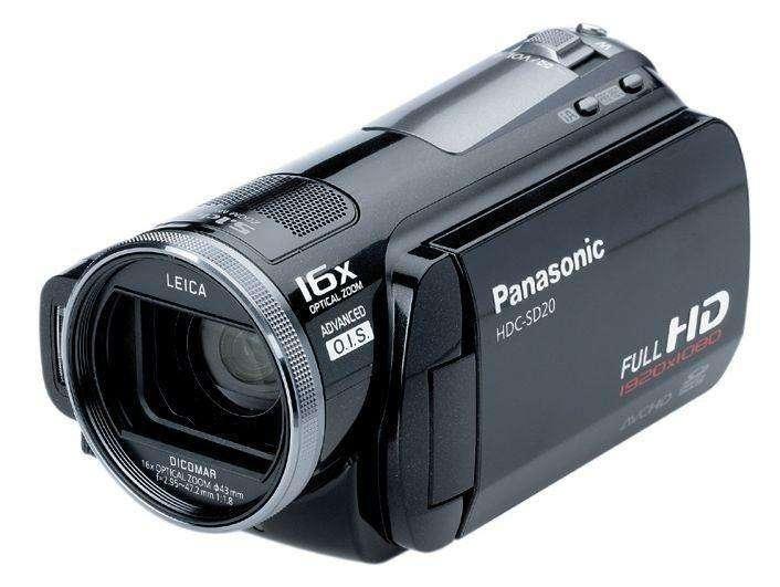 Filmadora <strong>panasonic</strong> Full Hd 1080p Hdcsd20
