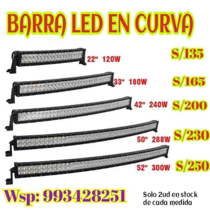 Barra Curva Leds Blanco