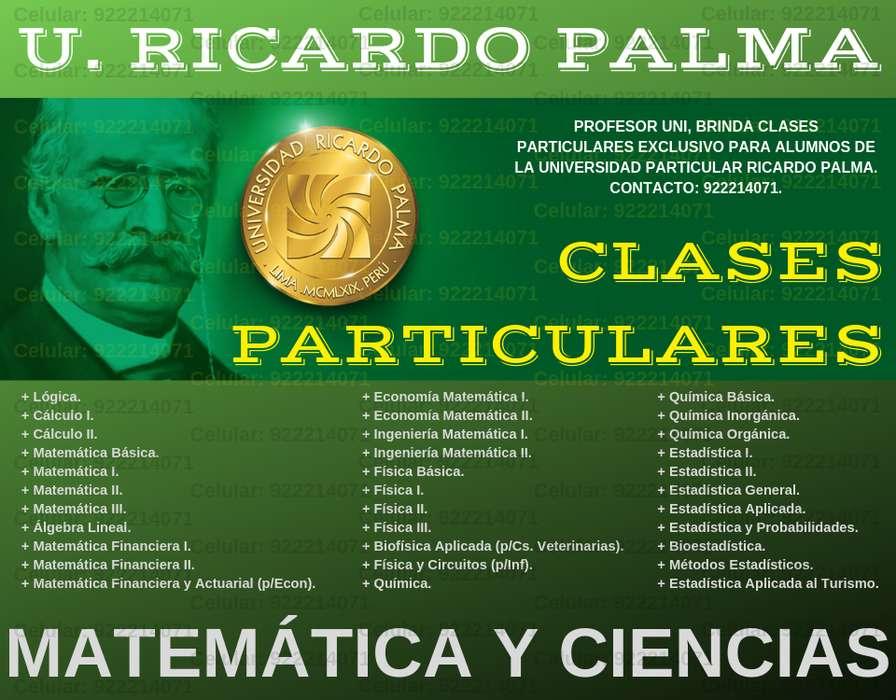 ASEGURA TUS CALIFICACIONES CON CLASES PARTICULARES DE MATEMÁTICAS Y FÍSICA. PROFESOR UNI EXCLUSIVO PARA LA URP.
