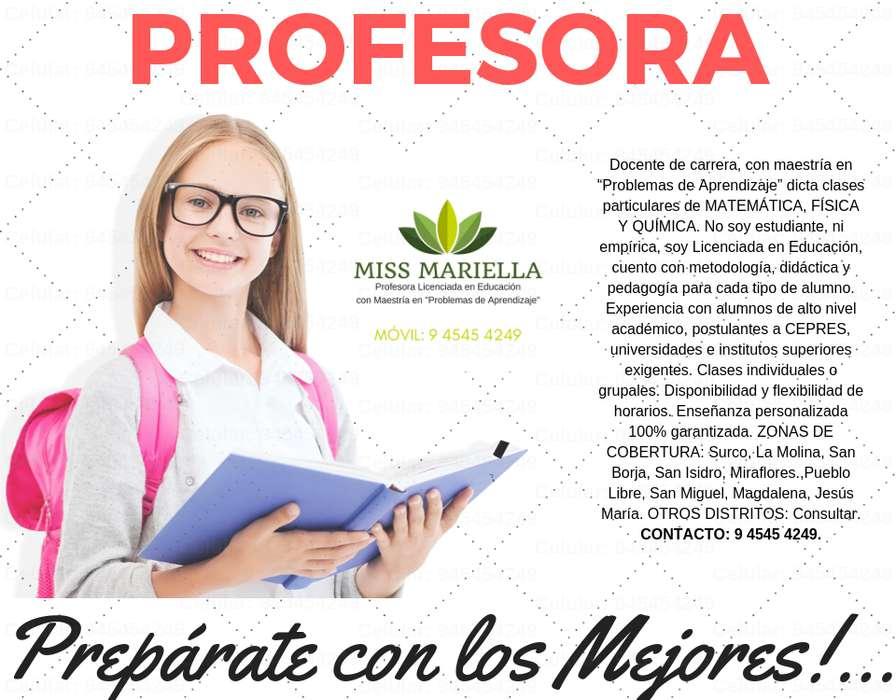PROFESOR DE MATEMÁTICA MISS MARIELLA. LIC. EN EDUCACIÓN AMPLÍA EXPERIENCIA PEDAGÓGICA EN PRE Y ESCOLARES. RESULTADOS