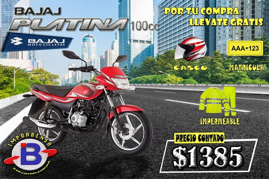MOTO SANTO DOMINGO//PLATINA-100-<strong>casco</strong>, MATRICULA E IMPERMEABLE GRATIS//IMPORTADORA BENAVIDES