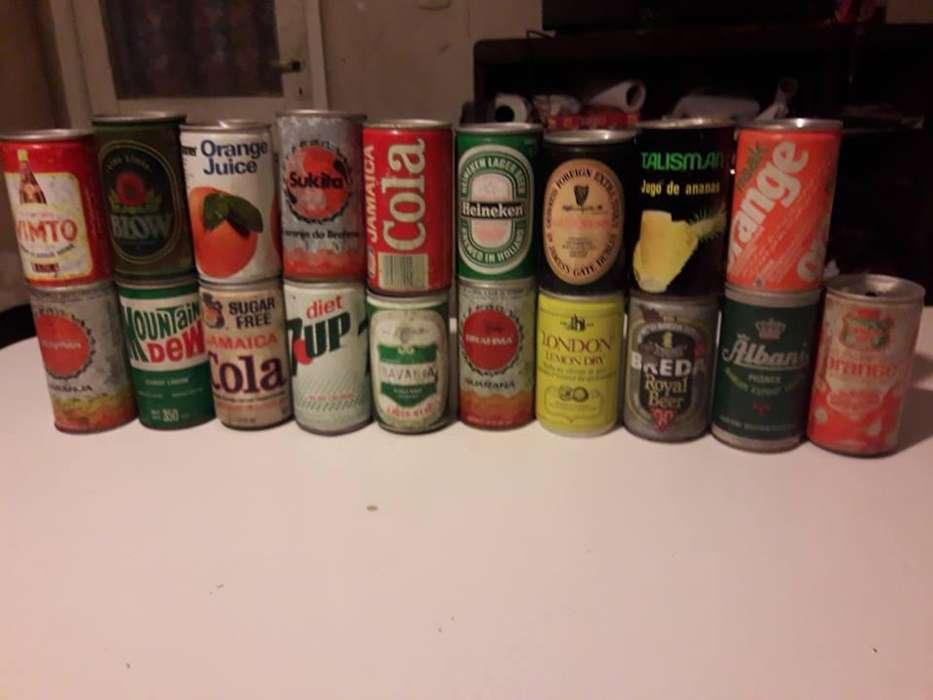 lote de mas de 35 latas antiguas de coleccion