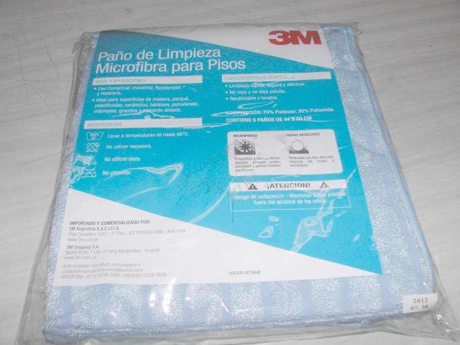 Paño de limpieza microfibra para pisos 3M