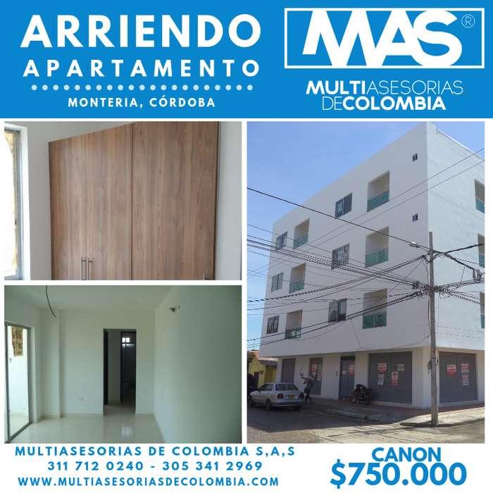SE ARRIENDA <strong>apartamento</strong>.