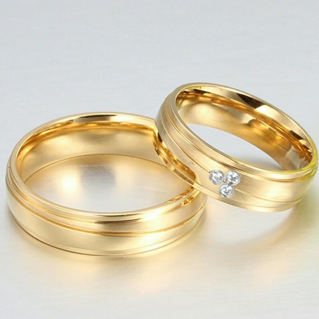 3279eb295aca Aros de Matrimonio Oro 18k Y Plata 925 Boda Anillos Aniversario Ps4 Celular  Joyas Tv S6